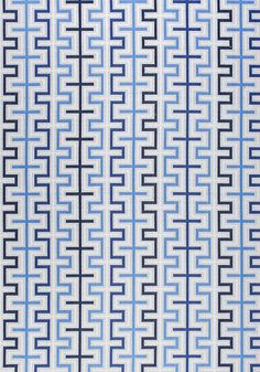 ZIPPER, Blue, W80335, Collection Calypso from Thibaut