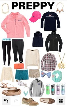 All things preppy. Preppy essentials. Vineyard Vines, Flannels, Sperry's…