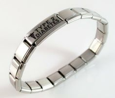 Type 2 Diabetes Medical ID Alert Italian Charm Bracelet Diabetic Diabetic Bracelets. $22.99. medical charm is hand crafted. you will receive instructions on how to take out or add links or charms. FREE sizing of your bracelet. links or charms can be taken out, more added, moved around. stainless steel bracelet stretches over your wrist