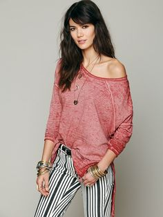Free People Super Soft Washed Pullover at Free People Clothing Boutique