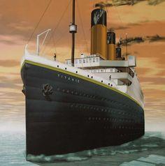 Titanic by Marcos Osorio Titanic Ii, Titanic Photos, Titanic History, Belfast, Liverpool, Disaster Film, Nose Art, Sailing Ships, Boats