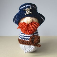 Pirate Pete, knitting pattern by Amanda Berry
