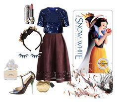 """""""Modern Snow White"""" by paulinemopps ❤ liked on Polyvore featuring Chicwish, Jimmy Choo, Topshop, Dolce&Gabbana, Guerlain, Marc Jacobs, modern, women's clothing, women and female"""