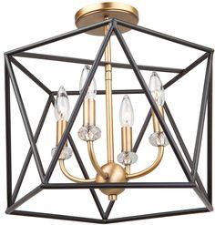 Bel Air Lighting Ackerman 4 Light Rubbed Oil Bronze