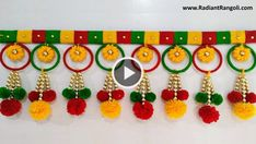 Wool crafts diy - Hello friends,an amazing craft out of waste Bangles and Wool Pls watch this video before throwing old Bangles and wool You will love this step by step tutori Door Hanging Decorations, Wall Hanging Crafts, Diwali Diy, Diwali Craft, Diwali Decoration Items, Handmade Decorations, Diy Home Crafts, Fun Crafts, Paper Crafts