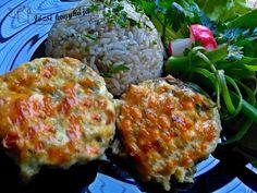 Érdekel a receptje? Kattints a képre! Kefir, Vegetable Recipes, Mozzarella, Paleo, Eggs, Meat, Chicken, Vegetables, Breakfast