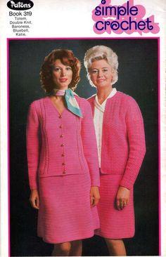 Patons 319 Vintage crochet patterns book 9 boho 1970s womens styles Long Vests…