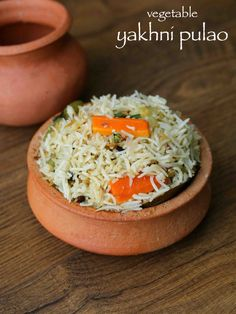 yakhni pulao recipe, vegetable yakhni pilaf, veg yakhni pulao with step by step photo/video. popular awadhi cuisine rice recipe prepared with broth & spices Veg Pulao Recipe, Vegetable Biryani Recipe, Vegetable Recipes, Vegetarian Recipes, Chicken Recipes, Cooking Recipes, Vegetable Curry, Dishes Recipes, Cooking Ideas