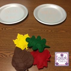 Speech Time Fun: Fall Leaves DIY Therapy Idea! - repinned by @PediaStaff – Please Visit ht.ly/63sNtfor all our pediatric therapy pins