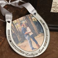 Add a little luck and a lot of love to your wedding day festivities, an anniversary or even Valentines Day when you gift this lucky horseshoe. A great addition to Western-style Weddings, your guests w