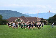 Greenies at the CAA Cross Country Meet at Christ School. #BlueRidge #WNC #BoardingSchool #Asheville #run #crosscountry