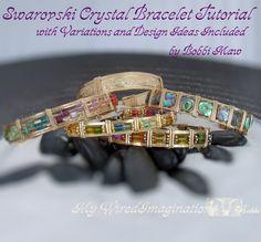 SALE Crystal Wire Wrap Bracelet
