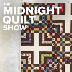 Free Quilt pattern by Angela Walters featured on the Midnight Quilt Show. Includes free quilting diagrams and uses 2 precut strips. Batik Quilts, Jellyroll Quilts, Rag Quilt, Scrappy Quilts, Quilt Blocks, Machine Quilting Tutorial, Machine Quilting Designs, Quilting Tutorials, Man Cave Quilts