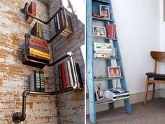 Librerie con materiale di recupero - Idee librerie di recupero