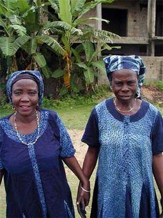 "Yoruba master indigo dyers known by the honorary title ""iya alaro,"" mother of indigo."