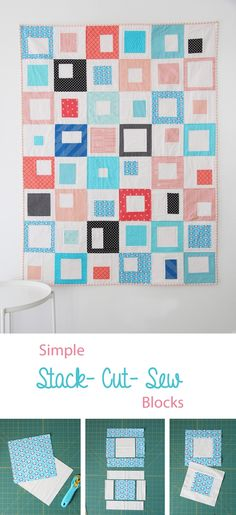 Stack, Cut, and Sew Blocks Tutorial with sizes