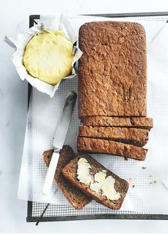 Donna Hay - banana bread By far the best banana bread I have ever tasted, let alone cooked myself :) Best Banana Bread, Banana Bread Recipes, Baking Recipes, Dessert Recipes, Desserts, Donna Hay Recipes, Brunch, Biscuits, Macaron