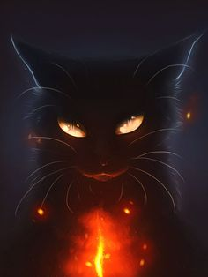 15 Ideas For Cats Warrior Fantasy Fantasy Creatures, Mythical Creatures, Anime Animals, Cute Animals, Warrior Cats Art, Cute Animal Drawings, Cat Drawing, Cat Art, Amazing Art