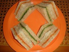 tricolor sandwich - independence day recipes