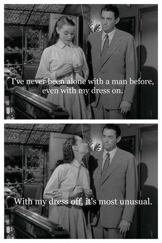 Audrey Hepburn, Gregory Peck in Roman Holiday (1953)