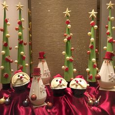 There is no shortage of Santas here! How do you like our chocolate display at Island Gourmet?