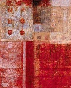 Tremain Smith - Paths of Wisdom, 2002 Abstract Photos, Abstract Art, Gelli Arts, Collage Artwork, Encaustic Art, Red Art, Art Journal Pages, Texture Painting, Geometric Art