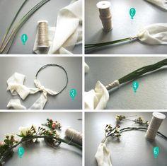 DIY couronne de fleurs http://www.unbeaujour.fr/blog-mariage/doityourself/diy-une-couronne-de-fleurs/