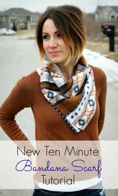 ONE little MOMMA: The New Bandana Scarf - Quick and Easy Tutorial