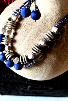 """Balungi Blue Edition Necklaces   """" Certain things catch your eye, but pursue only those that capture your heart """"  ...The Balungi flagship Store is slowly taken over by blue and green and  a touch of silver...Moreover Balungi """"HEART YOU.""""...blue is the new red for valentine!"""
