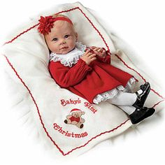 Doll: Baby's First Christmas So Truly Real Signature Edition Baby Doll - Realistic Baby Dolls