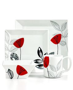 Stems Square dinnerware collection