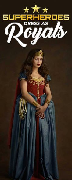 This is what our favorite superheroes would look like if they dress as Kings and Queens.
