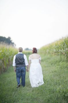 Country Wedding Couple
