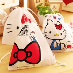 NEW !<12pcs/lot>Hello Kitty non-woven bag candy box candy bag kids birthday party favor baby shower souvenirs gift bag