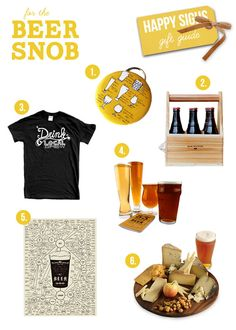 Perfect holiday gifts for craft beer aficionados! Also a guide for foodies, and hard alcohol drinkers.