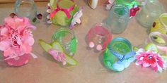 salt paint tea light jars!! too cute!!