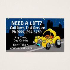 Taxi Service Business Card Cards Visit Carte De Visite