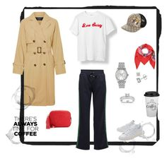 """""""Time for coffee"""" by malinandersson on Polyvore featuring Ganni, Vero Moda, adidas Originals, Gucci, Annello and Rolex"""