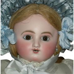 """BEBE GIGOTEUR - Jules Steiner - French Antique Doll - 20"""" - 2 Rows of Teeth!! - Mechanical!!"""