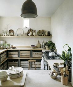 simple, rustic kitchen