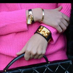 Hermes bracelet and look my Cartier love bracelet would go perfectly!