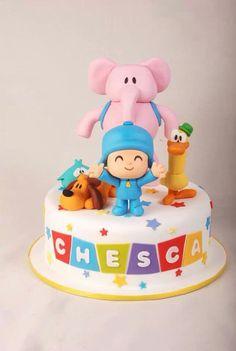 Pocoyo Cake Pocoyo, Fondant Cakes, Cupcake Cakes, Character Cakes, Disney Cakes, Cakes For Boys, Cute Cakes, Creative Cakes, Cake Smash
