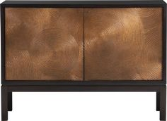Beautiful hammered copper doors make this a great statement piece — Cirque Two-Door Sideboard  | Crate and Barrel