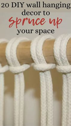 If your walls could use an update check out these quick and easy ideas to decorate your plain walls. Easy DIY wall decorations ideas for cheap. Budget friendly ideas to decorate plain walls. Macrame Hanging Chair, Hanging Flower Wall, Yarn Wall Hanging, Tapestry Wall Hanging, Wall Decorations, Diy Wall Decor, Pallet Wall Hangings, Shabby Chic Painting, Cut The Ropes