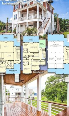 200 Beach House Plans Ideas Beach House Plans House Plans House