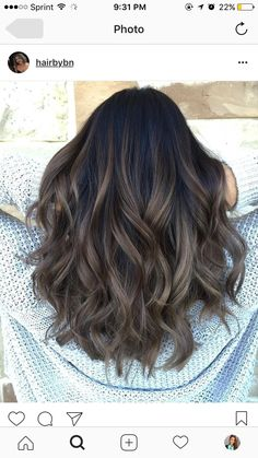 Subtle ash bayalage ombré on dark brunette – Hair – Hair is craft Hair Color For Black Hair, Ombre Hair Color, Brown Hair Colors, Hair Ideas For Brunettes, Hair Color Ideas For Brunettes Balayage, Black Hair Cuts, Brown Hair Balayage, Brunette Bayalage, Dark Brunette Balayage Hair
