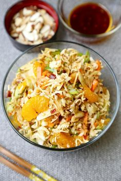 A healthy recipe version of Ramen Noodle Coleslaw. Would make a great base for Chinese Chicken Salad