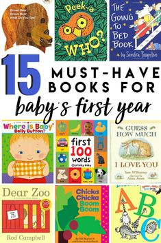 Building the baby library: 12 books for the first year Building Baby's Library- The Essential Books for Baby's First Year. Reading to your baby from an early age is essential for language development! Great buys for a baby shower gift ideas! Language Development, Baby Development, Toddler Books, Childrens Books, Best Baby Book, Kids Library, 12th Book, Babies First Year, Baby Belly