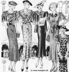 Form dáng thời trang năm 1930s, chất liệu vải in hoa, chi tiết ở cổ áo, đường viền cổ, tay áo, xếp ly được thiết kế đưa vào trang phục khiến chiếc váy trở nên mới mẻ, nữ tính và có điểm nhấn hơn rất nhiều!