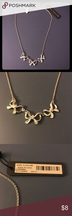 NWT Ann Taylor Delicate Bow Necklace 🎀 NWT Ann Taylor delicate bow necklace. Super dainty, perfect for every day. Never worn. 🎀🎀 Ann Taylor Jewelry Necklaces